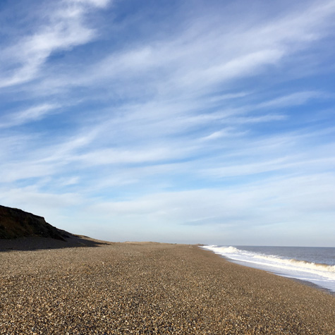Gramborough Hill, Salthouse Beach in the Winter